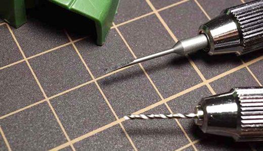 ガンプラ初心者が簡単キレイに丸型モールドを彫りたいならスピンブレードとドリル刃の最強コンボがおすすめ
