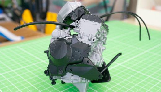 接着剤は必須!タミヤNinja H2 CARBONのエンジン素組みレビュー!
