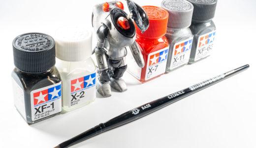 初めてエナメル塗料で筆塗り!下地処理と2度塗りが大事だと超実感した!